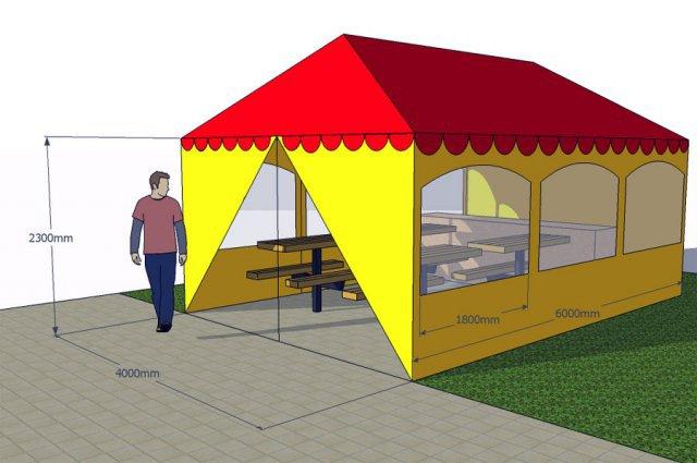 Летняя тентовая палатка